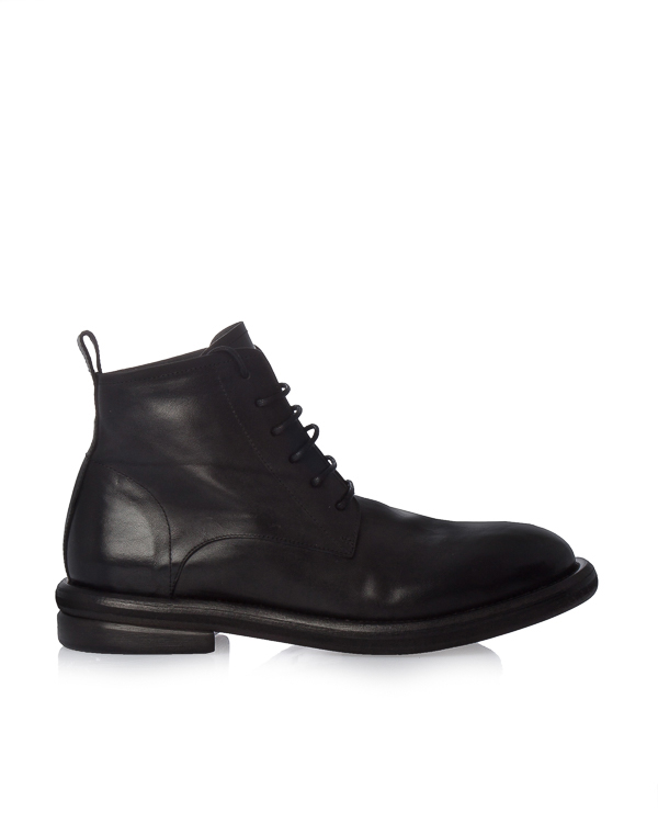 ботинки из гладкой кожи на шнуровке артикул MM2501 марки Marsell купить за 47700 руб.