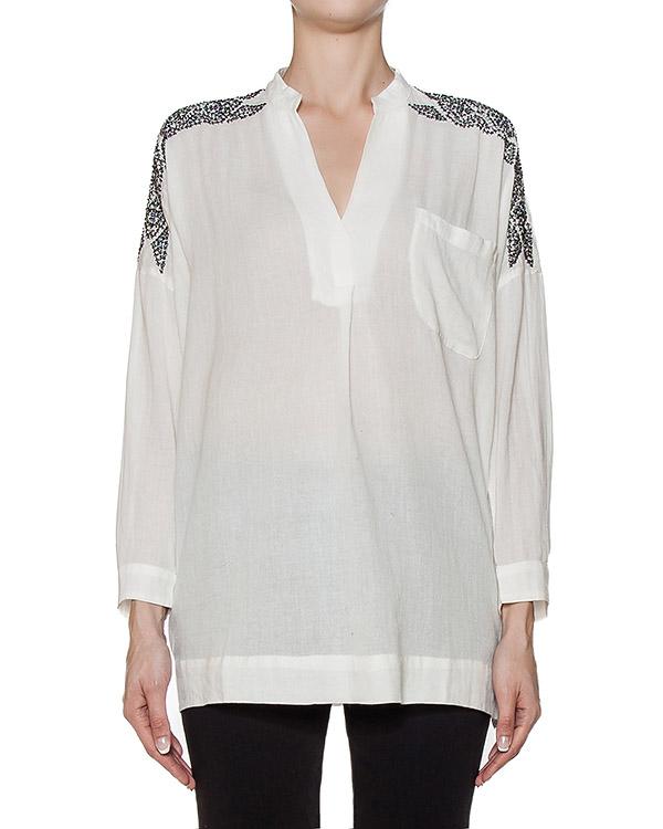 блуза из тонкого хлопка с вышивкой артикул MOBIDICK марки Essentiel купить за 5500 руб.