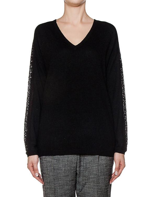 пуловер из полушерстяного трикотажа с кружевными вставками артикул MODAL марки Essentiel купить за 6800 руб.