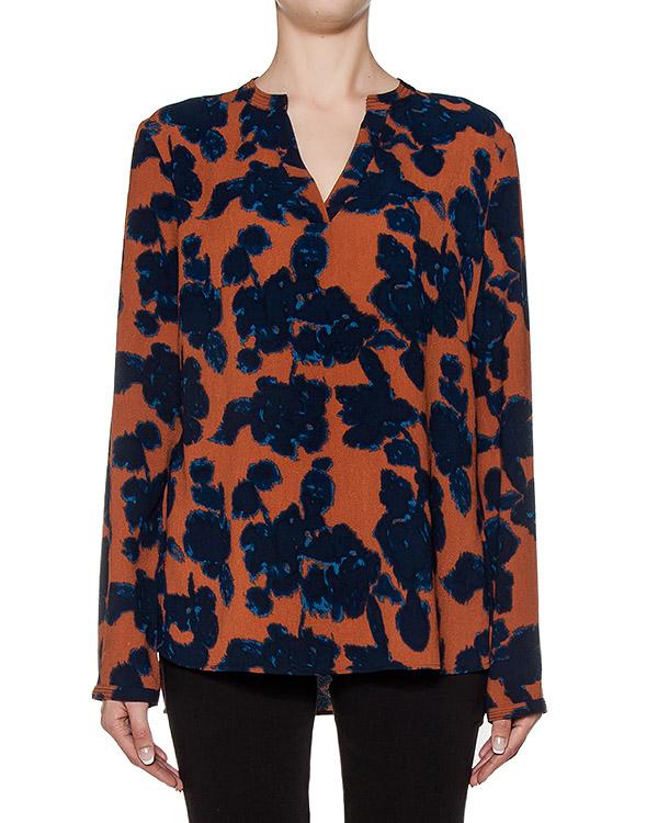 блуза из легкой ткани с абстрактным принтом артикул MONOPRIX марки Essentiel купить за 7200 руб.
