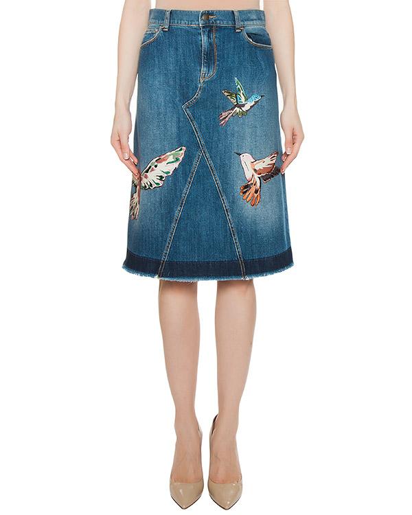 юбка  артикул MR3DD01F2SS марки Valentino Red купить за 23100 руб.