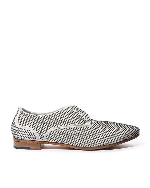 туфли из натуральной кожи, декорированы металлическими шипами артикул MW3625 марки Marsell купить за 29200 руб.