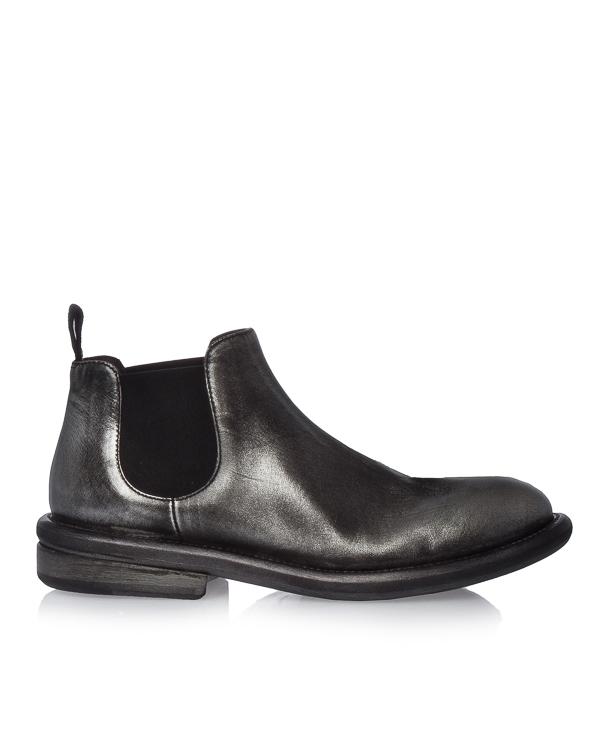 ботинки из кожи с серебряным покрытием артикул MW4447 марки Marsell купить за 45000 руб.
