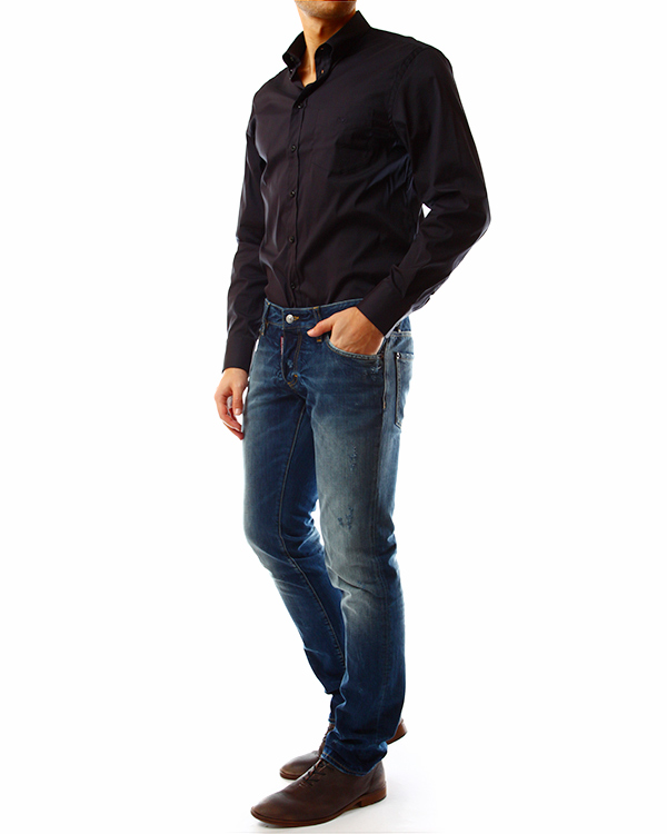 мужская рубашка EMPORIO ARMANI, сезон: лето 2014. Купить за 4300 руб. | Фото 3