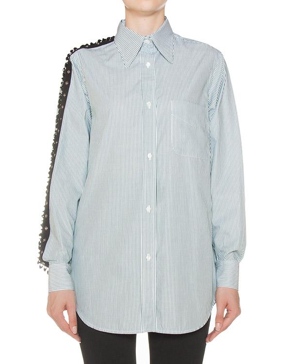 рубашка удлиненного силуэта из хлопка артикул N2M0G111 марки № 21 купить за 34200 руб.