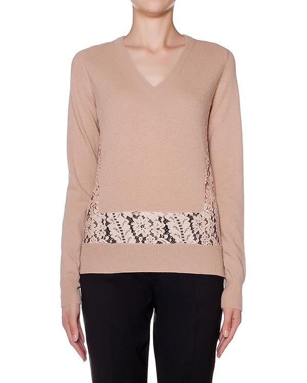 пуловер из мягкой вирджинской шерсти с кружевными вставками артикул N2MA004-7077 марки № 21 купить за 17200 руб.