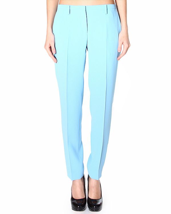 брюки зауженного кроя, со средней посадкой и боковыми вертикальными карманами артикул N2MB011N марки № 21 купить за 12500 руб.
