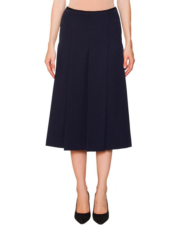 юбка в складку из плотного трикотажа с кружевной вставкой сзади артикул N2MC151 марки № 21 купить за 30900 руб.