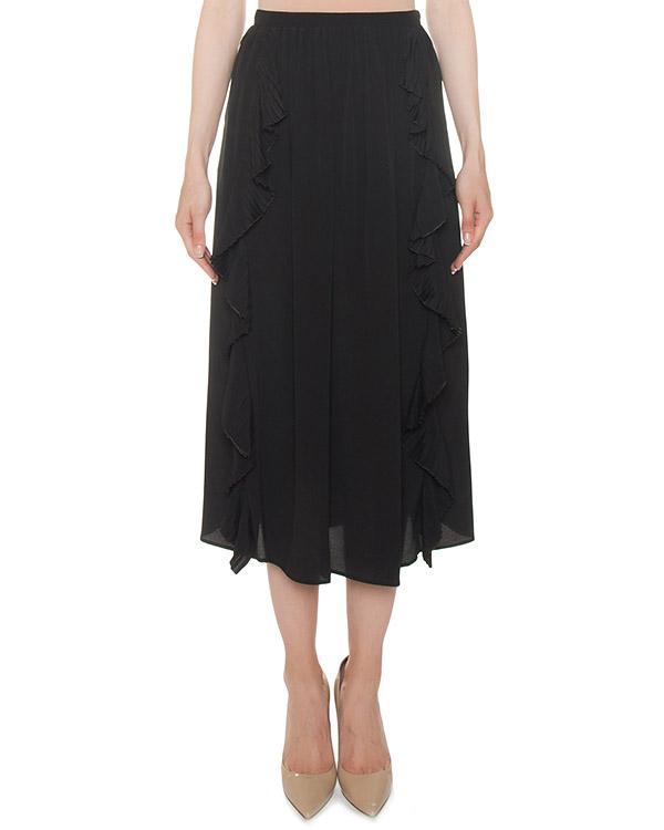 юбка из тонкого материала с отделкой плиссированными рюшами артикул N2MC201 марки № 21 купить за 31200 руб.