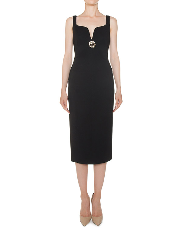 платье футляр из вискозы черного цвета артикул N2MH011 марки № 21 купить за 60800 руб.