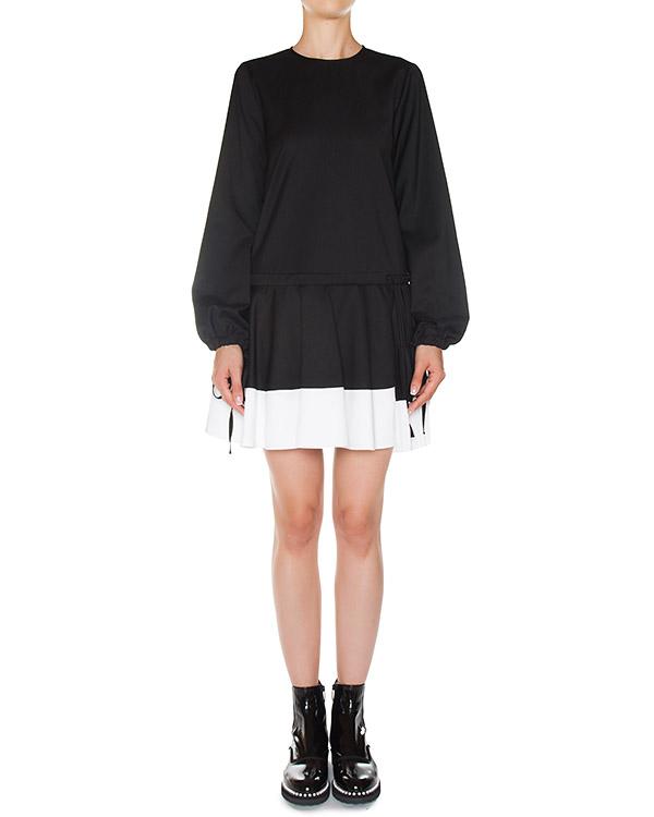 платье из мягкого шерстяного материала с юбкой в складку артикул N2MH161 марки № 21 купить за 57600 руб.