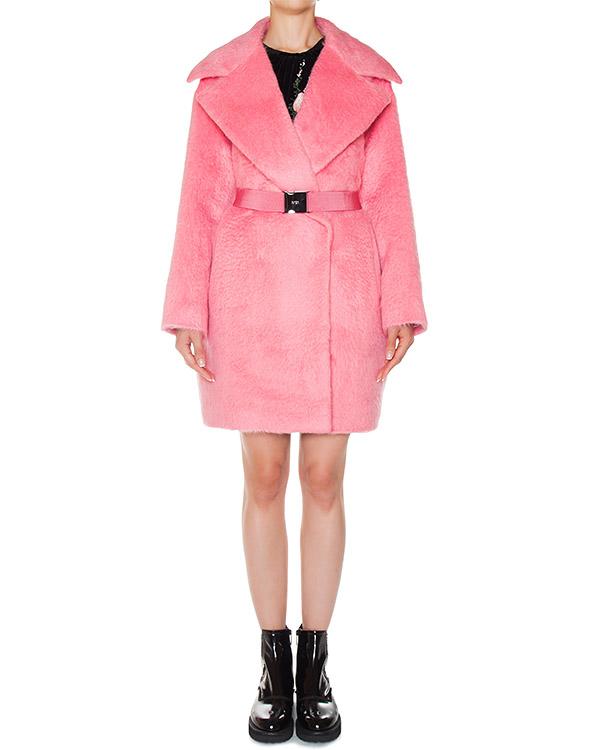 пальто из шерсти альпаки яркого розового цвета артикул N2MN031 марки № 21 купить за 92700 руб.