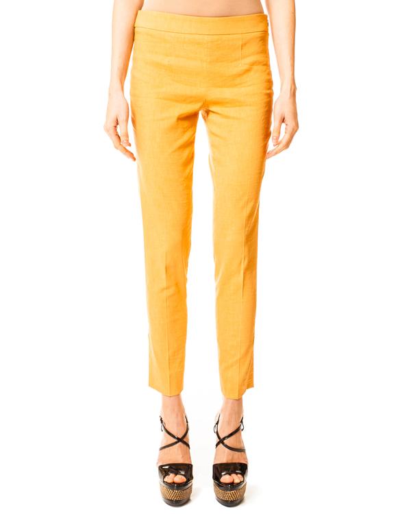 брюки укороченные с боковой молнией и карманами сзади артикул N2P06T марки EMPORIO ARMANI купить за 6500 руб.