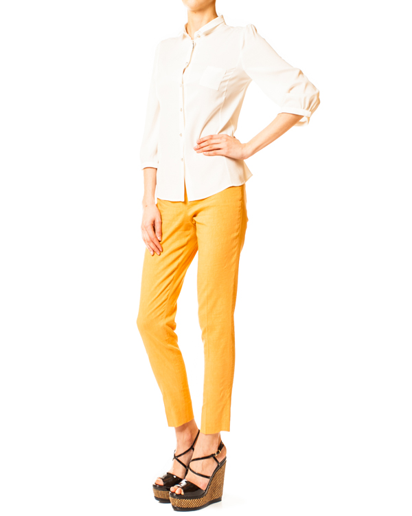женская брюки EMPORIO ARMANI, сезон: лето 2014. Купить за 6500 руб. | Фото 3