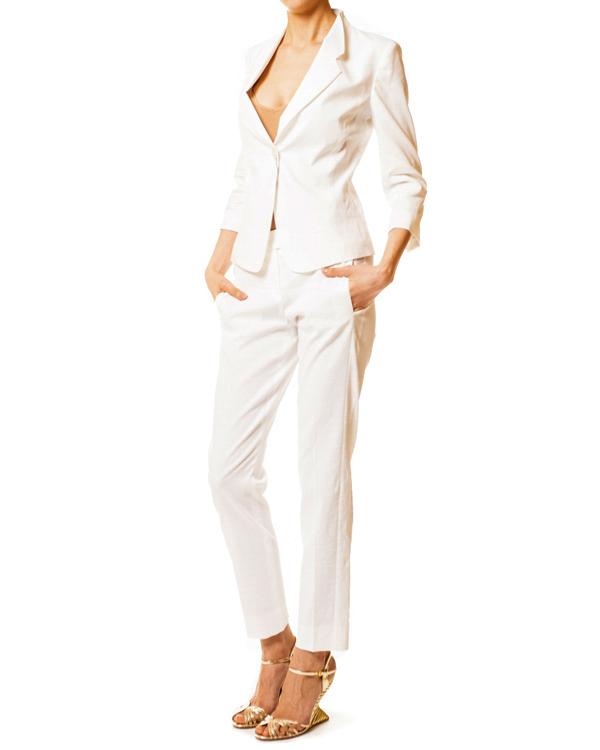 женская брюки EMPORIO ARMANI, сезон: лето 2014. Купить за 7300 руб. | Фото 3