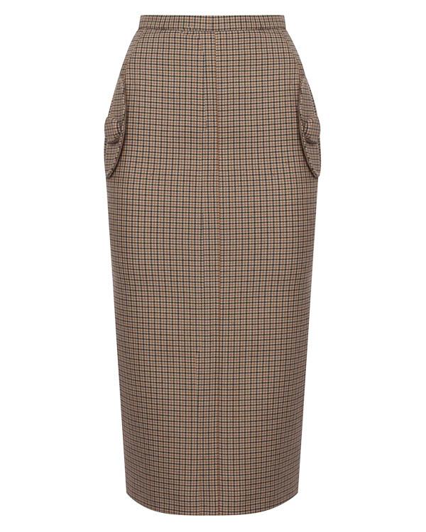 юбка миди из плотного полушерстяного неопрена  артикул N2SC022 марки № 21 купить за 46700 руб.