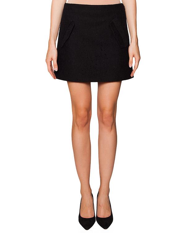 юбка из плотного трикотажа с кружевной отделкой артикул N2SC132 марки № 21 купить за 13600 руб.