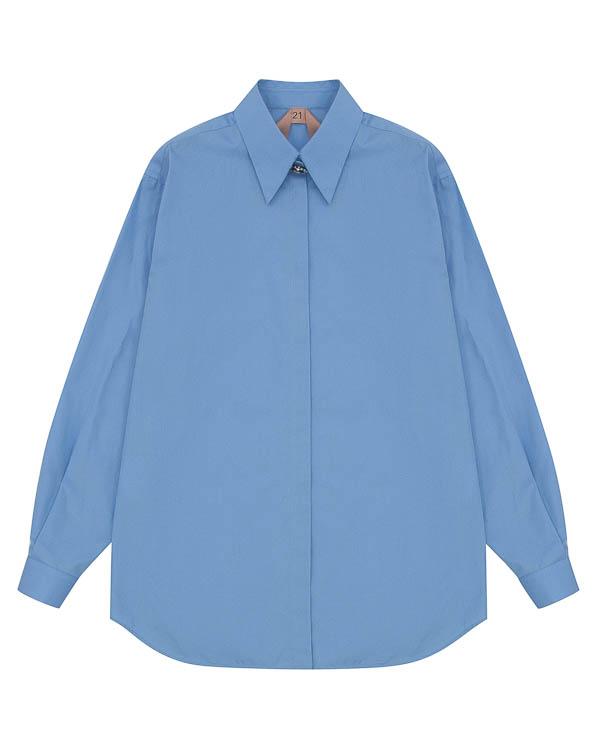 блуза из хлопка с пуговицей артикул N2SG025 марки № 21 купить за 24500 руб.