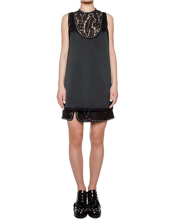 платье из гладкой ткани, украшено кружевом артикул N2SH122 марки № 21 купить за 46100 руб.