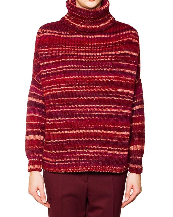 свитер с высоким горлом полушерстяной в полоску артикул NILO512006 марки P.A.R.O.S.H. купить за 5900 руб.