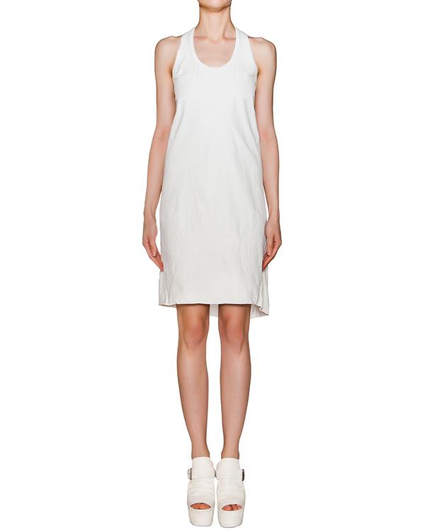 платье асимметричного кроя из натуральной кожи, дополнено вставкой из хлопка на спине артикул OBLIQUE марки Isaac Sellam купить за 39900 руб.