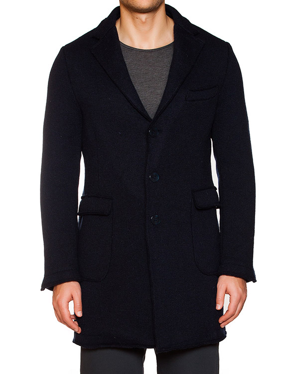 пальто вязаное из плотной шерсти артикул OBW15464F163T марки Obvious Basic купить за 19700 руб.