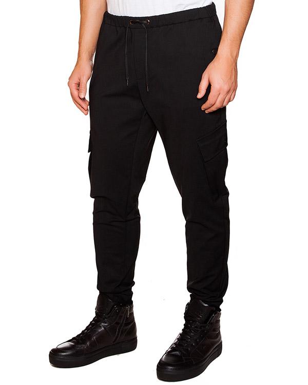 брюки из плотной ткани с карманами по бокам артикул OBW15472P107 марки Obvious Basic купить за 7000 руб.