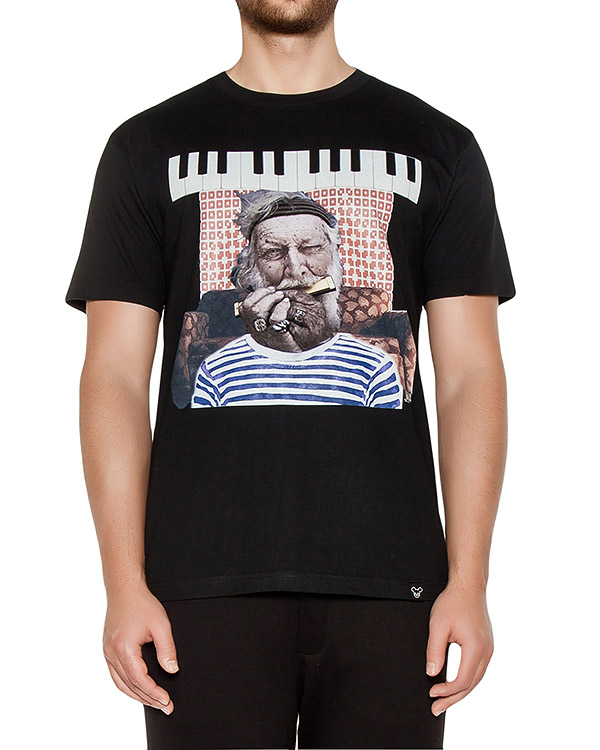 футболка из хлопкового трикотажа с принтом артикул OBW16261J102C марки Obvious Basic купить за 3900 руб.
