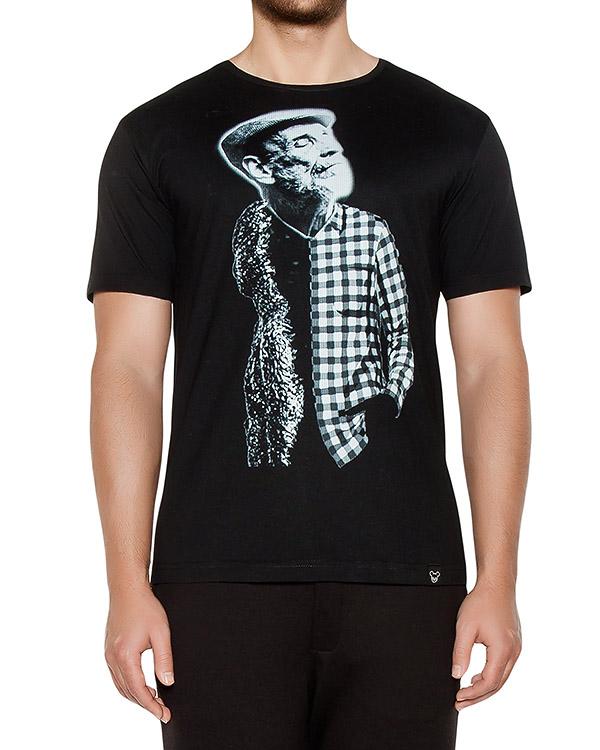 футболка из хлопкового трикотажа с принтом артикул OBW16261J103G марки Obvious Basic купить за 3900 руб.
