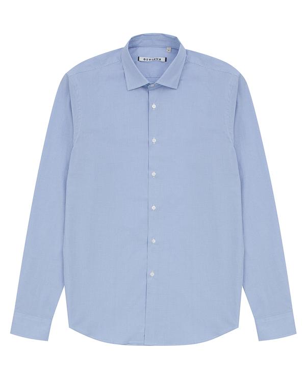 рубашка классического кроя из хлопка артикул OBW17052C100 марки Obvious Basic купить за 8400 руб.