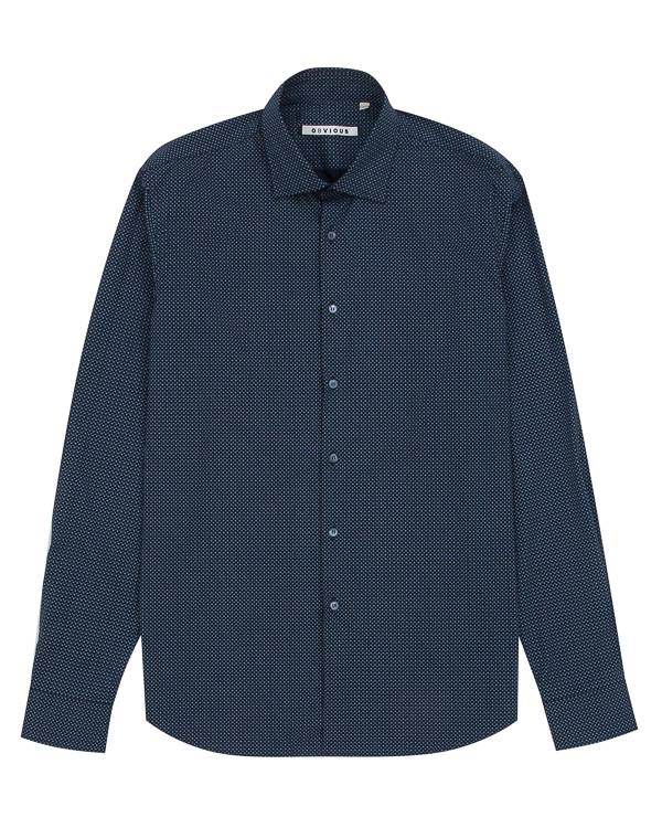 рубашка классического кроя из хлопка артикул OBW17055C099 марки Obvious Basic купить за 9100 руб.