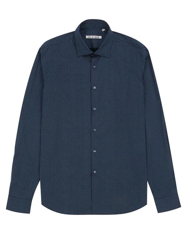 рубашка классического кроя из хлопка артикул OBW17055C100 марки Obvious Basic купить за 9100 руб.