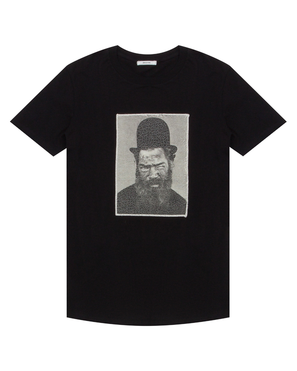 футболка из хлопка с принтом артикул OBW17262J104B марки Obvious Basic купить за 5300 руб.