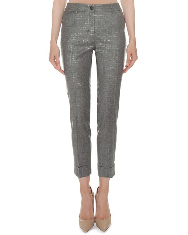 брюки из шерсти с добавлением блестящей нити артикул P04616 марки Peserico купить за 29600 руб.