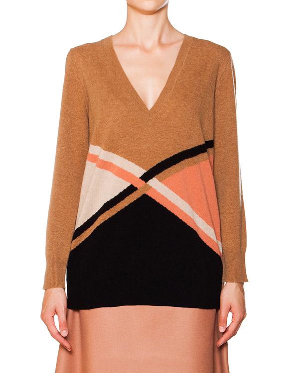 пуловер из шерсти и кашемира с геометрическим рисунком артикул P5I169 марки SEMI-COUTURE купить за 11400 руб.