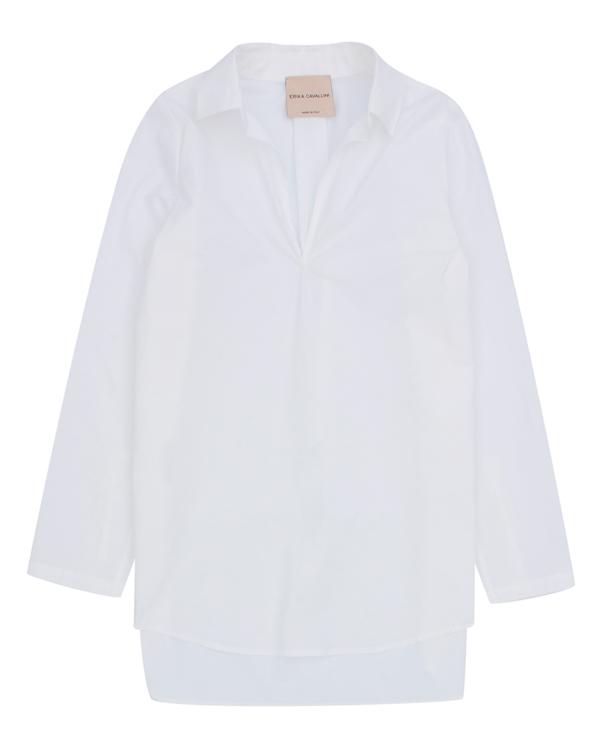 рубашка удлиненного силуэта из тонкого хлопка артикул P7AJ05 марки Erika Cavallini купить за 16900 руб.