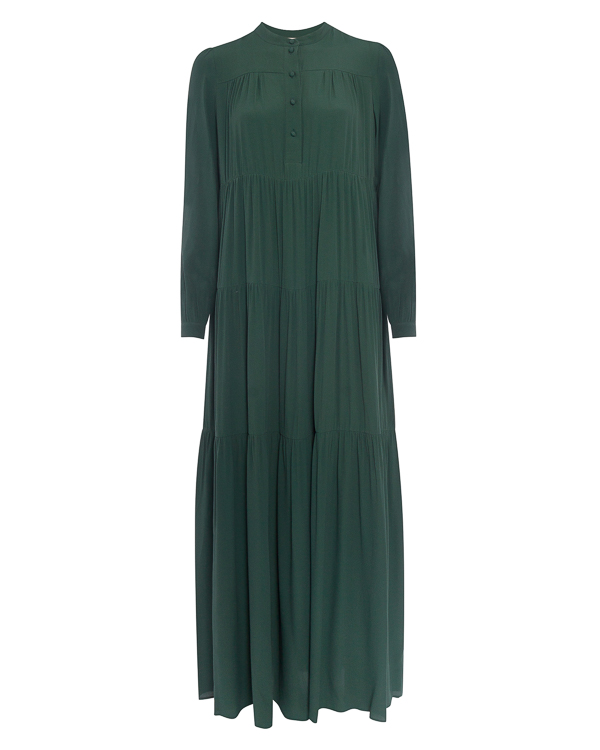 платье в пол из тонкого материала с добавлением шелка артикул P7AT56 марки Erika Cavallini купить за 39900 руб.