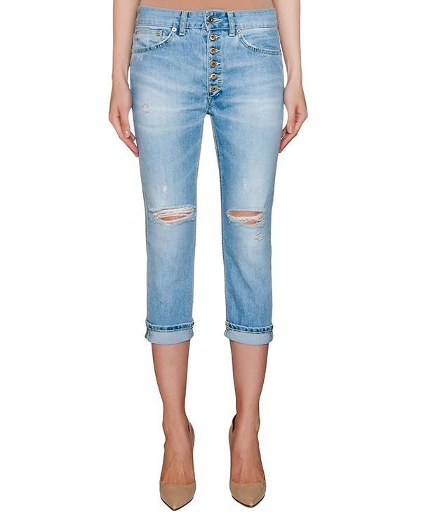 джинсы укороченного кроя с разрезами артикул P976-DS137 марки DONDUP купить за 9300 руб.