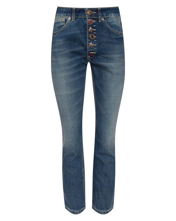 джинсы укороченного силуэта  артикул P976DF164D марки DONDUP купить за 17500 руб.