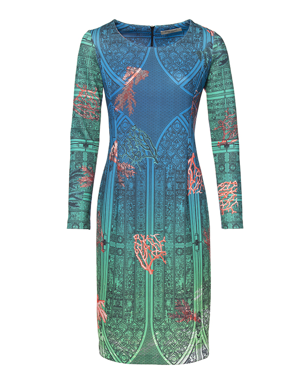 платье из тонкого неопрена с ярким принтом артикул PE16A114 марки Piccione piccione купить за 18400 руб.