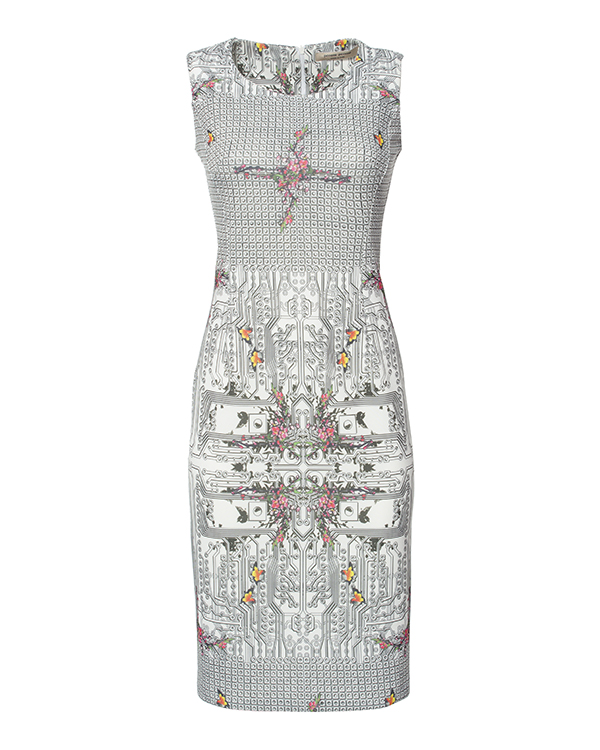 платье из тонкого неопрена с ярким принтом и орнаментом артикул PE16A115 марки Piccione piccione купить за 16400 руб.