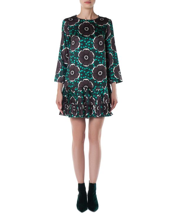 платье прямого силуэта с юбкой-плиссе артикул PEOPLE721391 марки P.A.R.O.S.H. купить за 29800 руб.