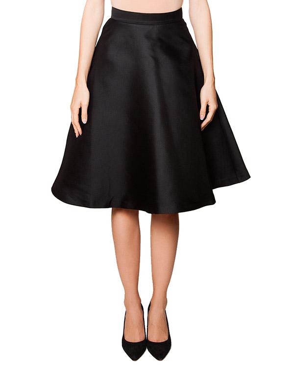 юбка расклешенного кроя из плотного шелкового твила артикул PICABIA620100 марки P.A.R.O.S.H. купить за 11100 руб.