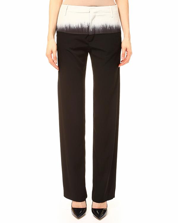 брюки полной длинны, прямого силуэта, с принтом на талии артикул PIGA марки Lutz Huelle купить за 26300 руб.