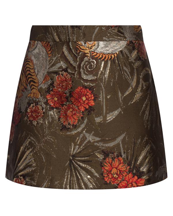 юбка мини из расшитой парчи  артикул PIGER630068 марки P.A.R.O.S.H. купить за 15200 руб.