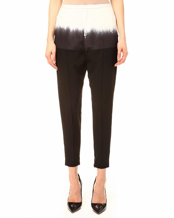 брюки с высокой посадкой, длинною семь-восьмых артикул PLEASE марки Lutz Huelle купить за 26300 руб.