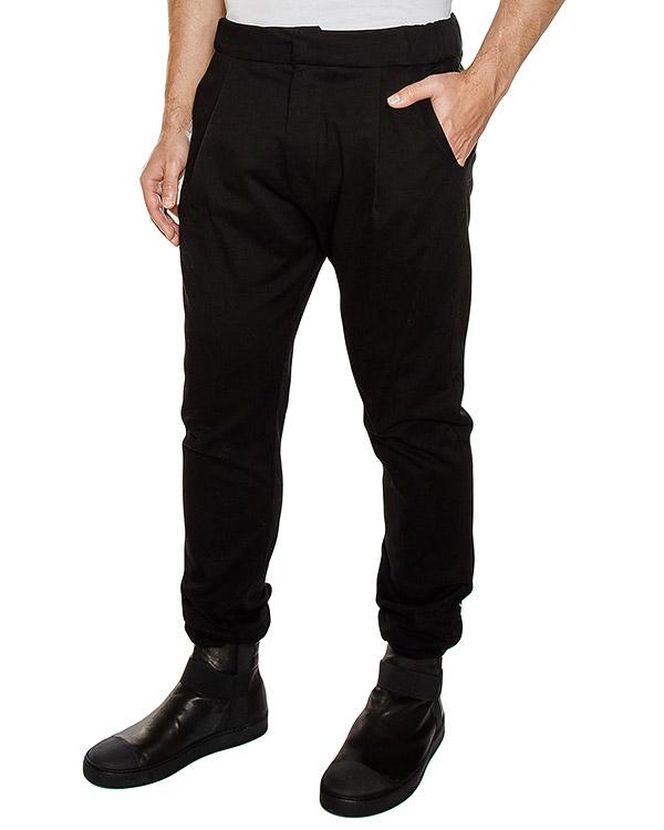 брюки из плотного денима, сзади дополнены лентами артикул PNTELS01 марки Letasca купить за 7400 руб.