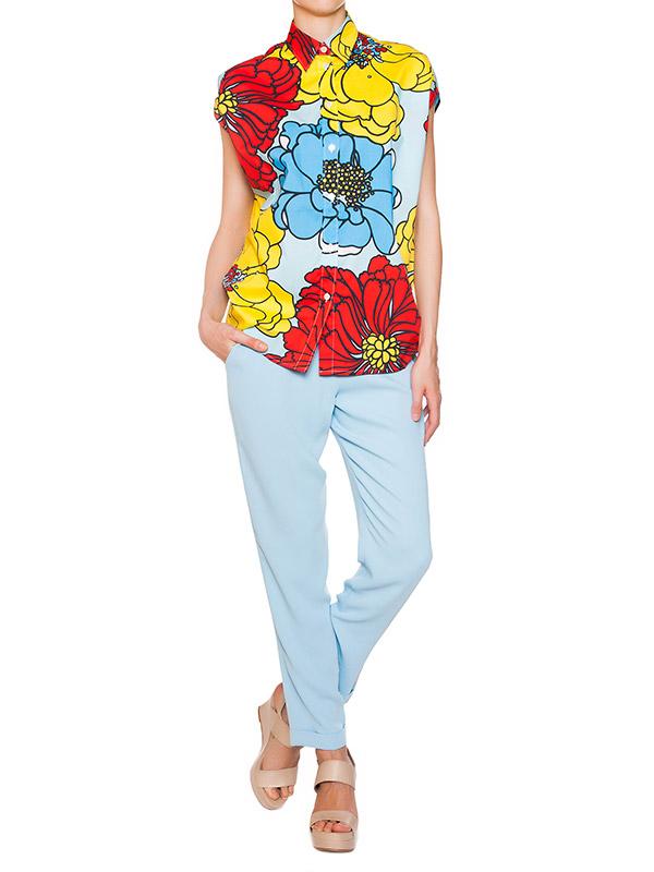 женская брюки P.A.R.O.S.H., сезон: лето 2015. Купить за 6300 руб.   Фото 3
