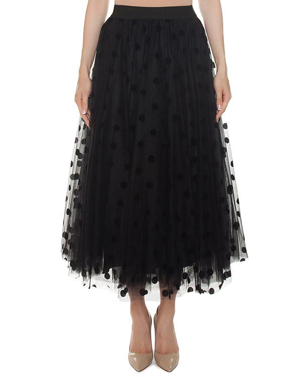 юбка из пышной сетки с оборкой артикул PONG620029 марки P.A.R.O.S.H. купить за 27100 руб.