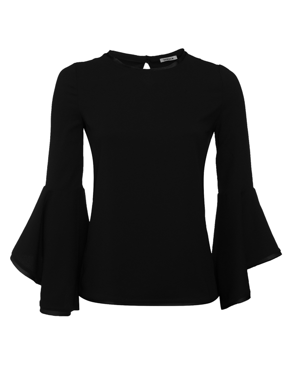блуза из тонкого материала с воланами  артикул POSEIDON310409 марки P.A.R.O.S.H. купить за 21800 руб.